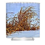 Winter Grasses II Shower Curtain