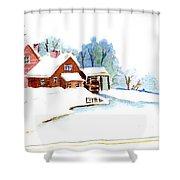 Winter Habitat Shower Curtain