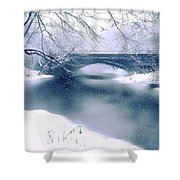 Winter Haiku Shower Curtain