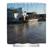 Winter Harbor Shower Curtain