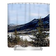 Winter Has Arrived In The Valley Shower Curtain