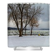 Winter Has Arrived Shower Curtain