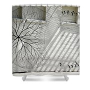 Winter Haven Abstract Shower Curtain
