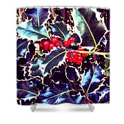 Winter Holly Shower Curtain