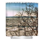 Winter Ice On Lake Michigan Shower Curtain