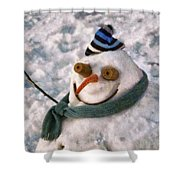 Winter - I'm Ready For My Closeup Shower Curtain by Mike Savad