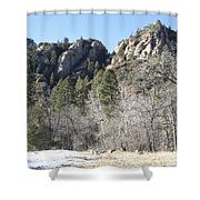 Winter In Arizona Shower Curtain