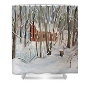 Winter In Campton New Hampshire Shower Curtain