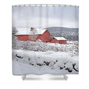 Winter In Connecticut Square Shower Curtain