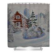 Winter In Finland Shower Curtain