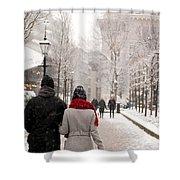 Winter In London Shower Curtain