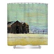 Winter In Montana Shower Curtain