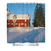 Winter In New England, Mountain View Shower Curtain