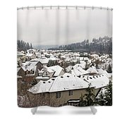 Winter In Residential Suburban City Shower Curtain