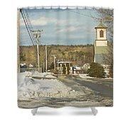Winter In Round Pond Maine Shower Curtain
