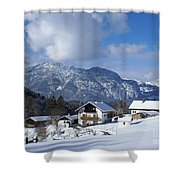 winter in the Bavarian alps 1 Shower Curtain