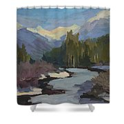 Winter In The Cascade Mountains Shower Curtain