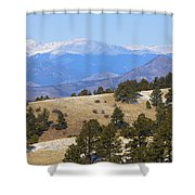 Winter In The Pike National Forest Shower Curtain