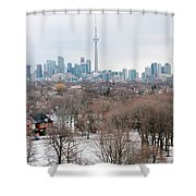 Winter In Toronto Shower Curtain