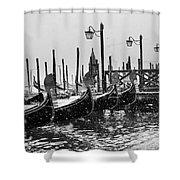Winter In Venice Shower Curtain
