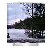 Winter In Vermont Shower Curtain