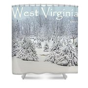Winter In West Virginia Shower Curtain by Benanne Stiens