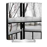 Winter Ironwork Shower Curtain