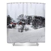 Winter Landscape 5 Shower Curtain
