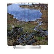 Winter Landscape Detail North Wales Shower Curtain