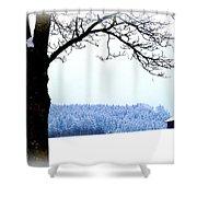 Winter Landscape In Bavaria Shower Curtain