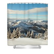 Winter Landscape In British Columbia Shower Curtain