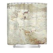Winter Landscape Shower Curtain by John Henry Twachtman