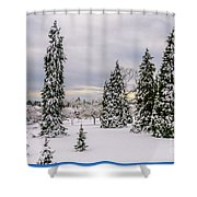Fabulous Winter. Shower Curtain