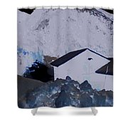 Winter Life Austrian Mountain  Shower Curtain