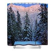 Winter Lodging Shower Curtain