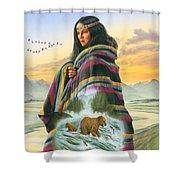 Winter Maiden Shower Curtain