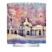 Winter Manor Shower Curtain
