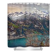 Winter Meets Spring Shower Curtain