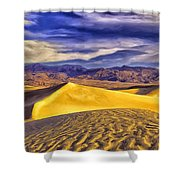 Winter Morning At Death Valley Shower Curtain
