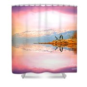Winter Morning At Okanagan Lake Shower Curtain