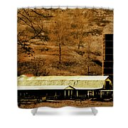 Winter Morning At The Cattle Farm Shower Curtain