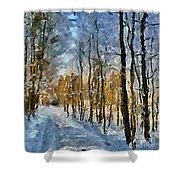 Winter Morning In The Forest Shower Curtain