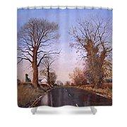 Winter Morning On Calverton Lane Shower Curtain