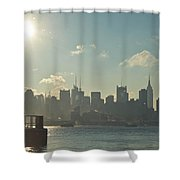 Winter Morning On The Hudson Shower Curtain