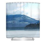 Winter Mountain Shower Curtain