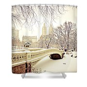 Winter - New York City - Central Park Shower Curtain