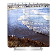 Winter Ocean In Newport Ri Shower Curtain