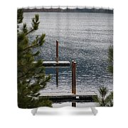 Winter On Lake Coeur D' Alene Shower Curtain