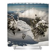 Winter On Mt. Bachelor Shower Curtain