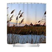 Winter On The Delaware  Shower Curtain